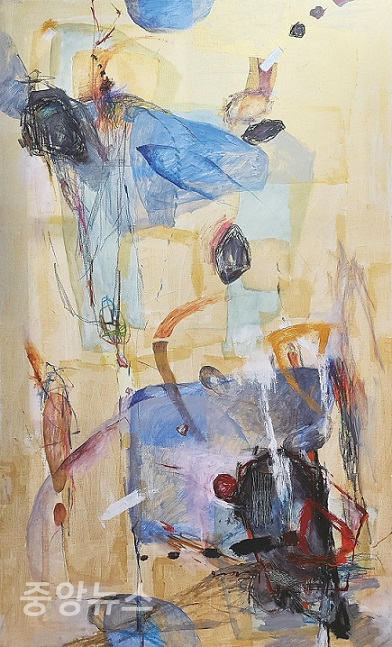 (사진=오경택 Life-Diary 162.2×97.0cm, acrylic and oil color, oil stick on canvas)
