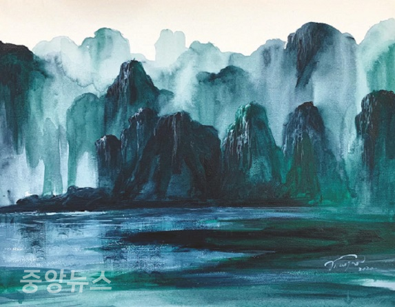 (사진=LIU MINGQIAN Yun_Ran No.1 40×50cm, Acrylic on canvas, 2020)
